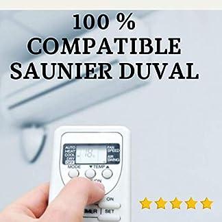 Mando Aire Acondicionado SAUNIER Duval – Mando a Distancia Compatible 100% con Aire Acondicionado SAUNIER Duval. Entrega en 24-48 Horas. SAUNIER Duval MANDO COMPATIBLE