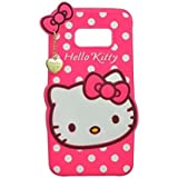 Aloin Cute Hello Kitty Silicone Mobile Phone Back Cover Case For Samsung Galaxy S8 Plus (Pink)
