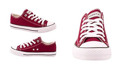 Elara - Sneaker Donna Rosso bordeaux