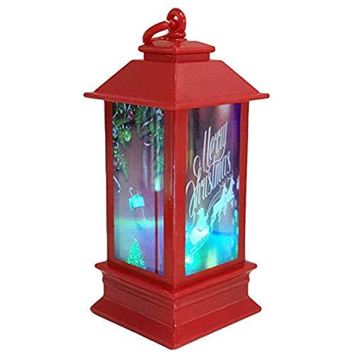 Peahop Weihnachtslaterne LED Laterne Weihnachten Candlestick Night Light Weihnachtsanhänger Dekoration