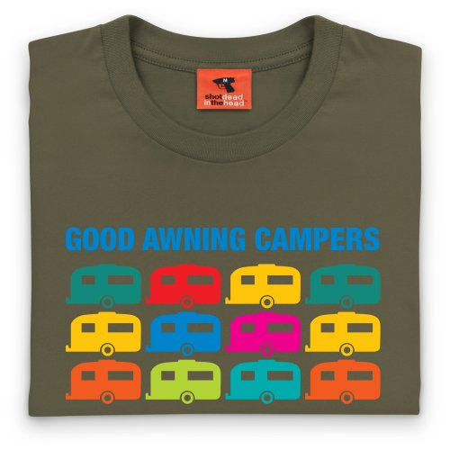 Good Awning Campers T-Shirt, Herren Olivgrn