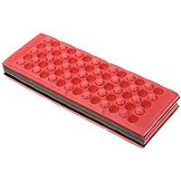 Cojín plegable para deporte el Camping en plein air-rouge, color rojo, tamaño 27 x 9.5 x 4cm