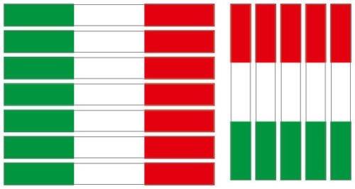 Preisvergleich Produktbild Kfz-Aufkleber Sticker Flagge Italien Bandiera italiana Set RG