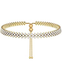 ICE (6195-2) Diamante Necklace Choker Proms Gold