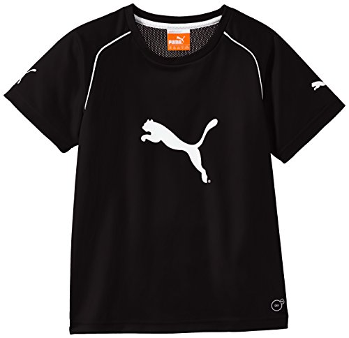Puma Jungen T-Shirt Ringer 14 Jahre bunt - schwarz / weiß (T-shirt Cat Ringer)