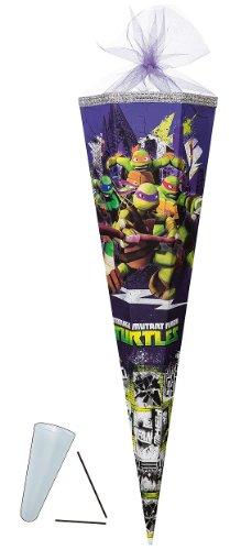 Unbekannt passende 3D Bänder - Schleife - für Schultüte - Teenage Mutant Ninja Turtles 22 / 35 / 50 / 70 / 85 cm - mit / ohne Kunststoff Spitze - Zuckertüte ALLE Größ..