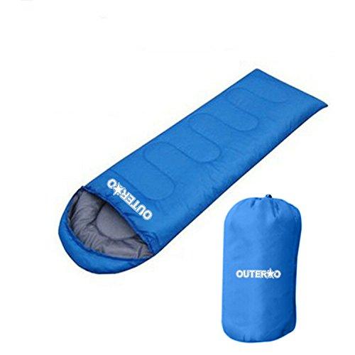 OUTERDO Sacco a Pelo - Portatile e Impermeabile, Ultra Leggero Sacchi a Pelo Sleeping Bag Per Viaggio Escursione Campeggio Arrampicata All'aperto