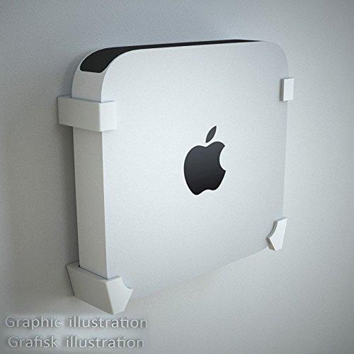 Danish Designed Wall Bracket for Apple Mini Mac. Mounts your Mini Mac Perfectly on the Wall. (White)