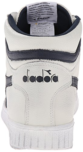 Diadora Game L High Waxed, Scarpe Low-Top Unisex – Adulto Bianco (Bianco/Blu Mar Caspio)