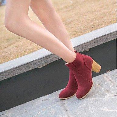 Bottes pour femmes Automne Hiver Chaussures Club de plein air en daim &bureau occasionnel Carrière Talon SplitMarche commun Black