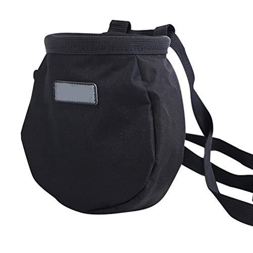 Kampre Climbing Chalk Bag mit Chalk Ball Chalky Bag zum Klettern im Gymnastikbereich Weightlifter Chalk Bag mit Reißverschlusstasche hinten und verstellbarem Gürtel - Reißverschlusstasche Hinten