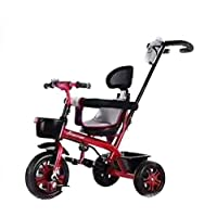 Kids tricycle With push Bar Ride On Tricycle Bike Red