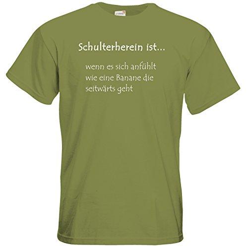 getshirts - Tinchens Wonderworld Official Merchandise - T-Shirt - Schulterherein Green Moss