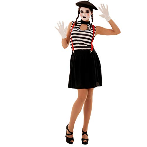 My Other Me Damen Kostüm MIMO, M-L (viving Costumes (Ein Mime Kostüm)