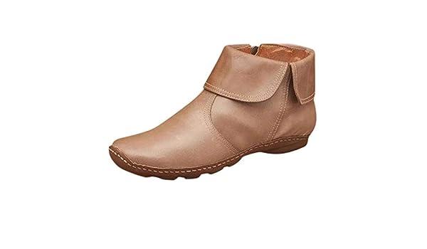 KUDICO Bottes Femme en Cuir Chaussures à Bout Rond en PU
