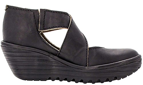 Fly London Womens Yogo Leather Shoes Black