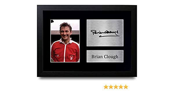 HWC Trading Brian Clough Gift Signed A4 Printed Autograph Nottingham Forest Gifts Photo Display