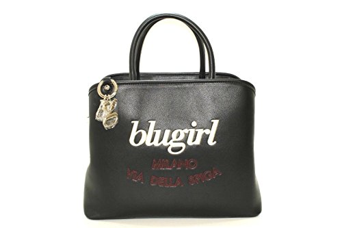 Borsa bugirl modello bauletto con 3 scompartimenti, centrale con zip e scritta ricamata new collection 2017 (K)