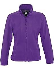 Sol 's–Forro polar Jacket–North, todo el año, color morado - Dark Purple, tamaño XL