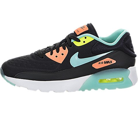 Nike AIR MAX 90 ULTRA SE (GS) girls running-shoes 844600-001_6Y - BLACK/HYPER TURQ-BRIGHT MANGO-VOLT (Nike-4 V3)