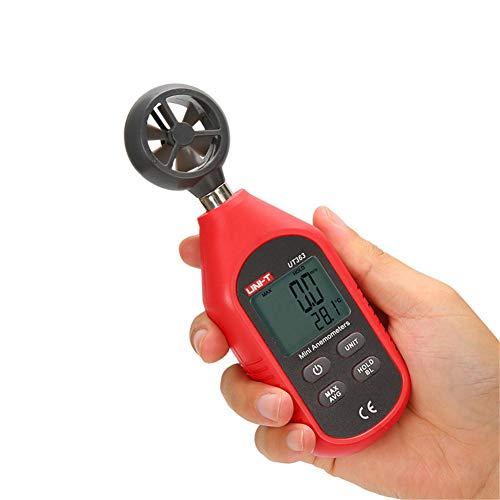 Anemómetro digital de mano, medidor de velocidad del viento portátil, medidor de temperatura del aire...