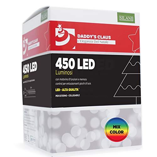 PARTY STORE WEB BY CASA DOLCE CASA 450 LED Lichter für Weihnachtsbaum und außen (450 LED-Farben gemischt) (Web Weihnachtsbeleuchtung)