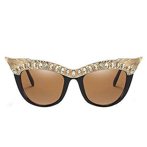 810ecf5f5a lidahaotin Décor strass Mode femmes fille AC Lens Lunettes de soleil UV400  protection Lunettes PC Metal
