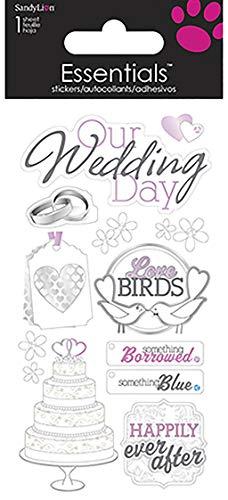 Sandy Lion Essentials Sammelalbum handgefertigt Aufkleber, Groß, Our Wedding Day -