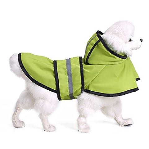 Aaa226pour animal domestique imperméable pluie Days Slicker Sweat à capuche réfléchissant à rayures Chien Veste imperméable pour homme