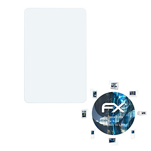 atFolix Schutzfolie kompatibel mit Kiano Elegance 10.1 3G Panzerfolie, ultraklare & stoßdämpfende FX Folie (2X)
