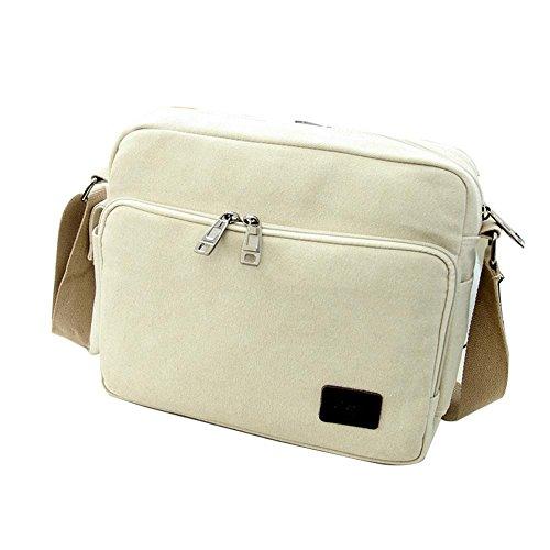 Viaggi sacchetto esterno della tela di canapa impermeabile spalla casuale borsa diagonale pacchetto , blue meters white