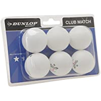Dunlop Club Table Tennis Balls 6 Pack