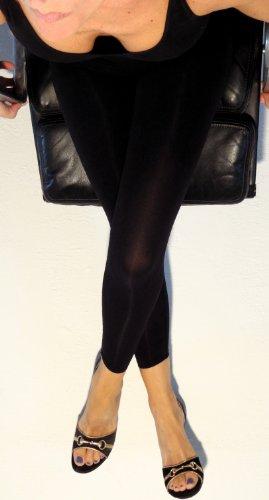 Elegante, schlankmachende lange Hose, Leggings mit Push-Up-Effekt mit Koffein Schwarz