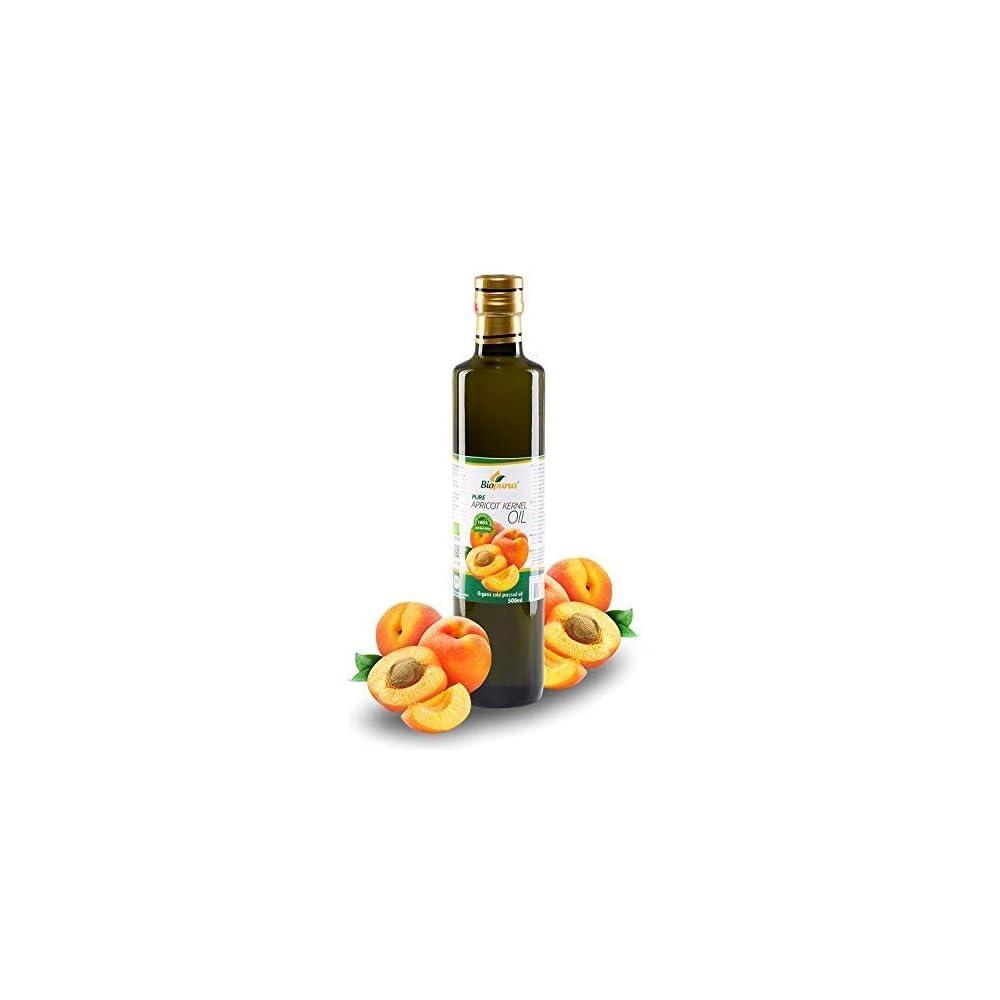 Zertifiziertes Bio Kaltgepresst Aprikosenkernl 500ml Biopurus