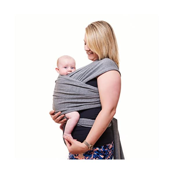 Premium Baby Carrier | Neutral Grey | One Size Fits All | Cozy & Soothing For Babies | Suitable for Newborns, Infants & Toddlers | Cotton/Spandex Comfort Fabric |100% Infinity Guarantee | Ideal Gift Funki Flamingo ENJOY FREE HANDS AGAIN: Get your freedom back. Do housework, grab a coffee, shop & tend to other kids while keeping baby close. Baby stays happy while you're more productive & less stressed. Great for fussy babies! STRENGTHEN BOND WITH BABY: Forging a close bond with your infant is vital to their development. Our wrap keeps baby close to your warm body & heartbeat where they feel safe & secure. For newborn - 35 lbs. UNBEATABLE QUALITY: Manufactured with premium materials to ensure years of use and repeated washings. Sturdy fabric holds your baby safely & securely. This is a wrap you'll pass on to friends and family! 2