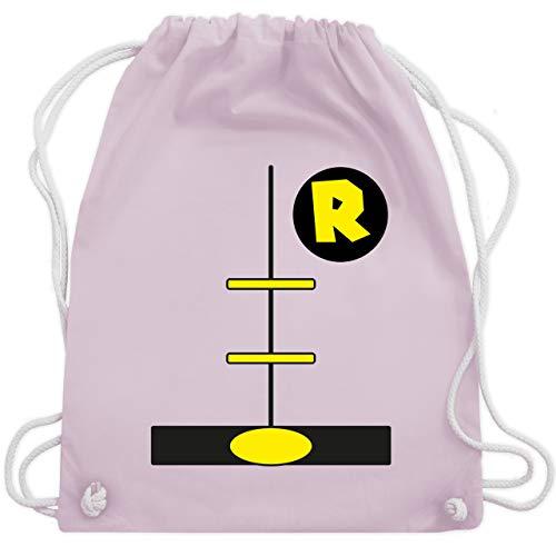 Superheld Kostüm Rosa - Karneval & Fasching - Superheld Kostüm Kind - Unisize - Pastell Rosa - WM110 - Turnbeutel & Gym Bag