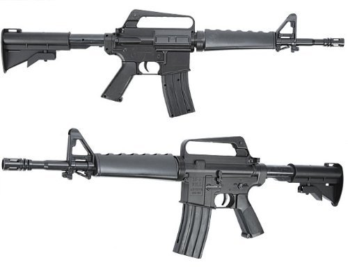 Nerd Clear MR722C Softair-Gewehr XXL 86cm lang schwarz Sturmgewehr unter 0,5 Joule ab 14 Jahre Kinder-Gewehr Spielzeug-Gewehr (Bb-gewehr M 16)