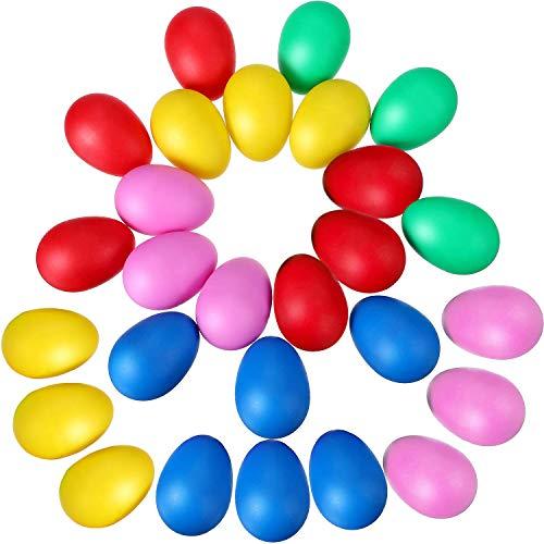 30Pcs Uovo Maracas Shaker Set Confezione Plastica Percussioni Giocattoli Strumenti Musicali Con Colori Assortiti Per Feste Bambini