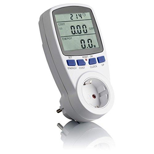 SEBSON Energiemessgerät, Energiekosten-Messgerät und Strommessgerät, max. 3680W, Steckdose, Display, Speicher, Stromtarif beliebig