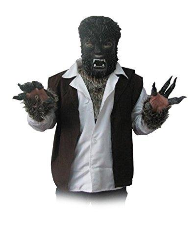 Fell-Kostüm WERWOLF 1, (Qualität Werwolf Kostüme Film)