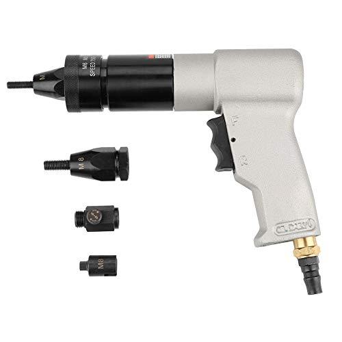 Pneumatischer Nietapparat, pneumatisches Nietwerkzeug Überwurfmutter Automatisches Luftnietapparat-Überwurfmutter-Werkzeug für das Nieten in der Fertigungsindustrie(M6/M8)