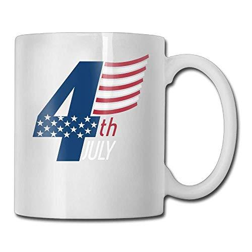 USA 4th July Custom Coffee Mugs/11oz Ceramic Tea Cup - Novelty Gift (Press French Made In Usa)