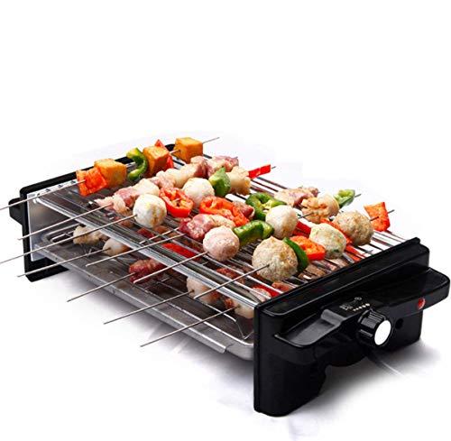 Barbecue Électrique, Électrique Bbq Grill Style Coréen Smokeless Antiadhésifs Barbecue Machine Accueil Double Barbecue Machine Pot Barbecue (41,5 * 14,5 * 22 Cm)