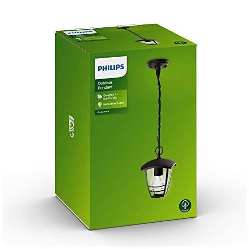 Philips Creek Sospensione Lanterna per Esterni Giardino, Nero