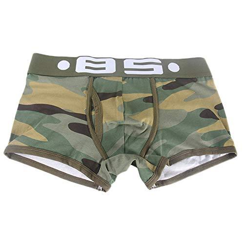 Quaan Men Sexy Unterwäsche Brief Gedruckt Boxershorts Shorts Bulge Pouch Unterhose
