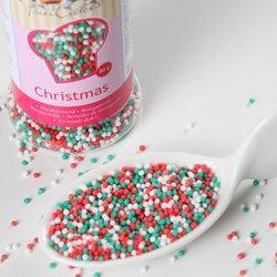 Funcakes Nonpareille, Christmas Mix 80g - grün-weiß-rot