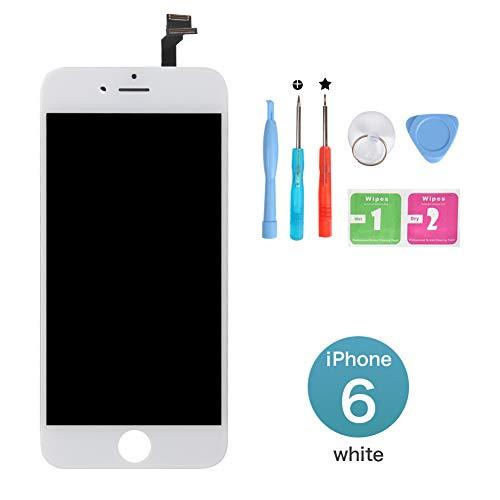 """New Sign Kit de Réparation Ecran LCD pour iPhone 6, Retina Vitre Tactile Display Complet pour iPhone 6 (4.7"""") avec Outils de Réparation - Blanc"""