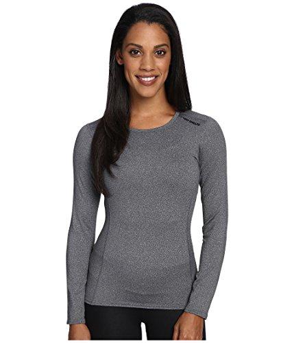 Hot Chillys Micro-Elite Damen Unterhemd mit Rundhalsausschnitt, Damen, Granit, Large -