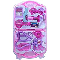 RAYFIN Kids Doctor Set Toy Game Kit for Boys and Girls Collection (Pink)