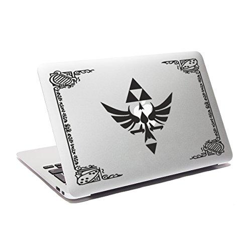 Legend Of Zelda-Hyrule Hylian decalcomania adesiva decalcomania per Macbook con decalcomania per PC portatili